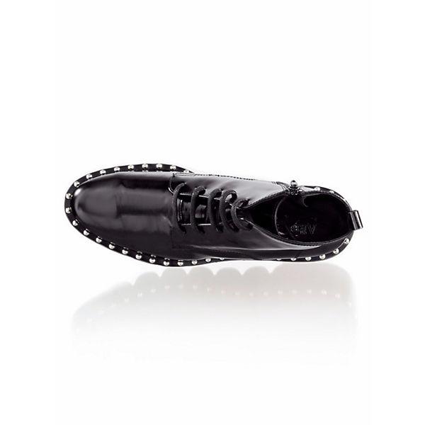 Alba Moda Schnürstiefeletten schwarz