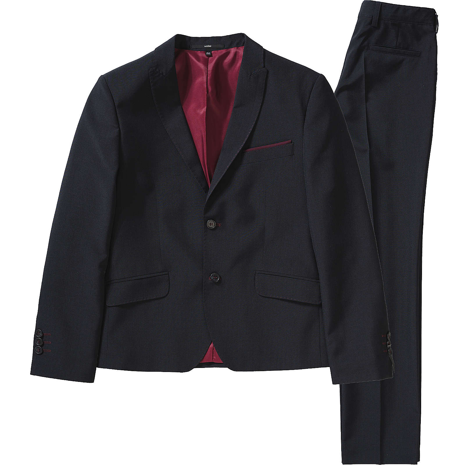 Weise Kinder Anzug, Slim Fit dunkelblau Junge Gr. 152