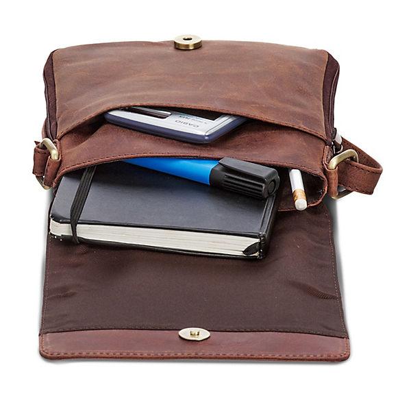 Packenger Businesstasche Hjalti (Leder) dunkelbraun