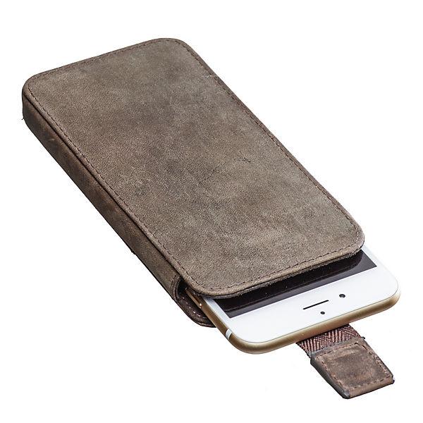 Packenger Handytasche für IPhone 6/ 6S/ 7 (Leder) grau