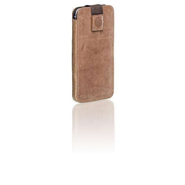 Packenger Handytasche für IPhone 6/ 6S/ 7 (Leder) hellbraun