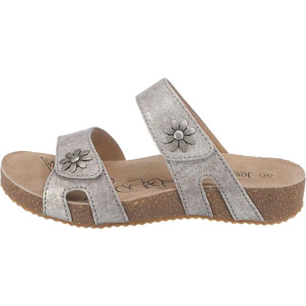 Josef Seibel Tonga 04 Pantoletten silber  Gute Qualität beliebte beliebte beliebte Schuhe d5a5ba