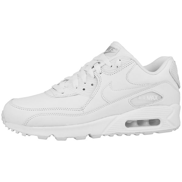 Air weiß 90 Nike Max Low Sportswear Sneakers Leather qxU8v
