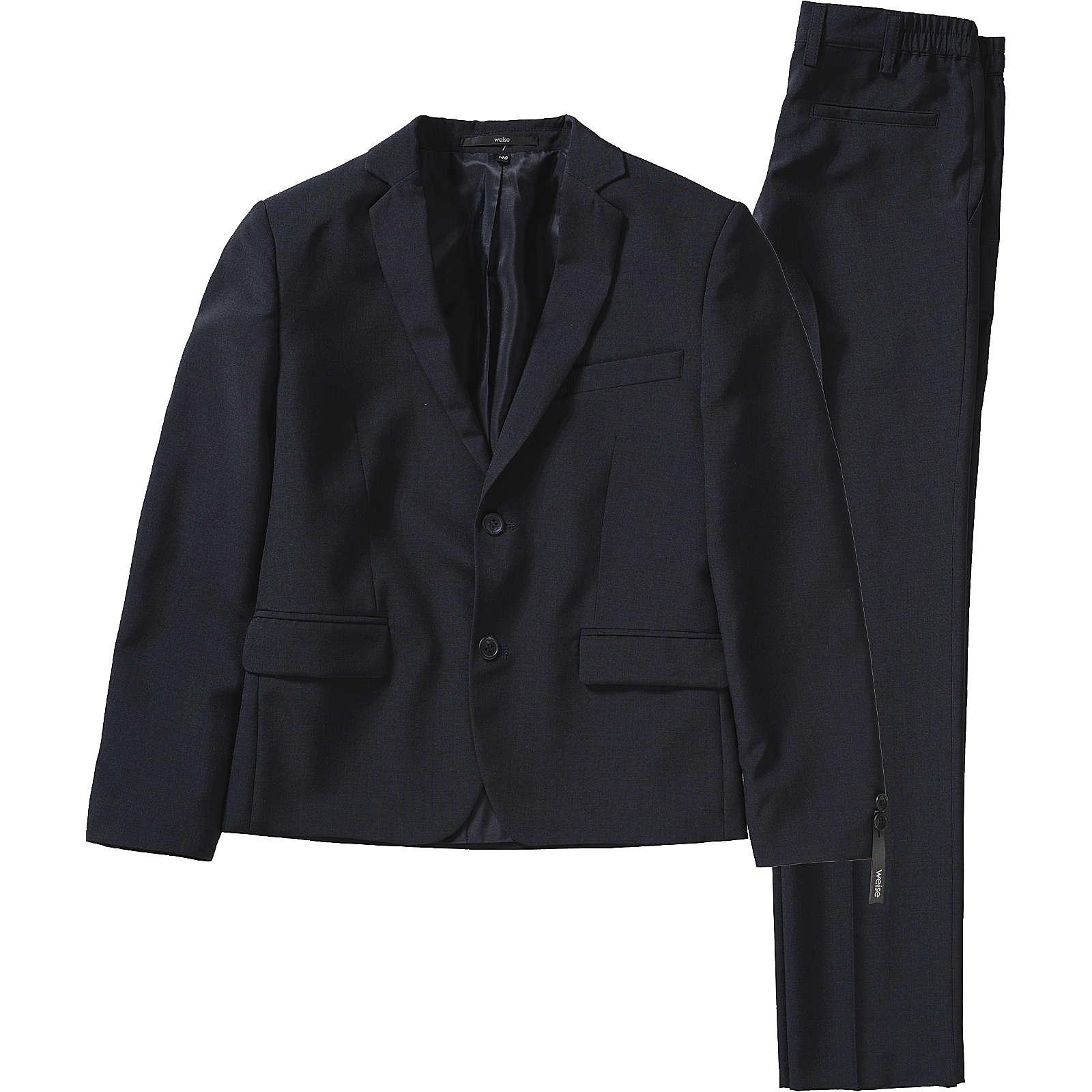 Weise Kinder Anzug, Slim Fit dunkelblau Junge Gr. 128