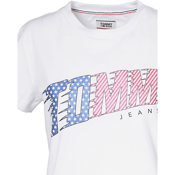 TOMMY Shirt TOMMY T weiß JEANS JEANS wCPcv5qg