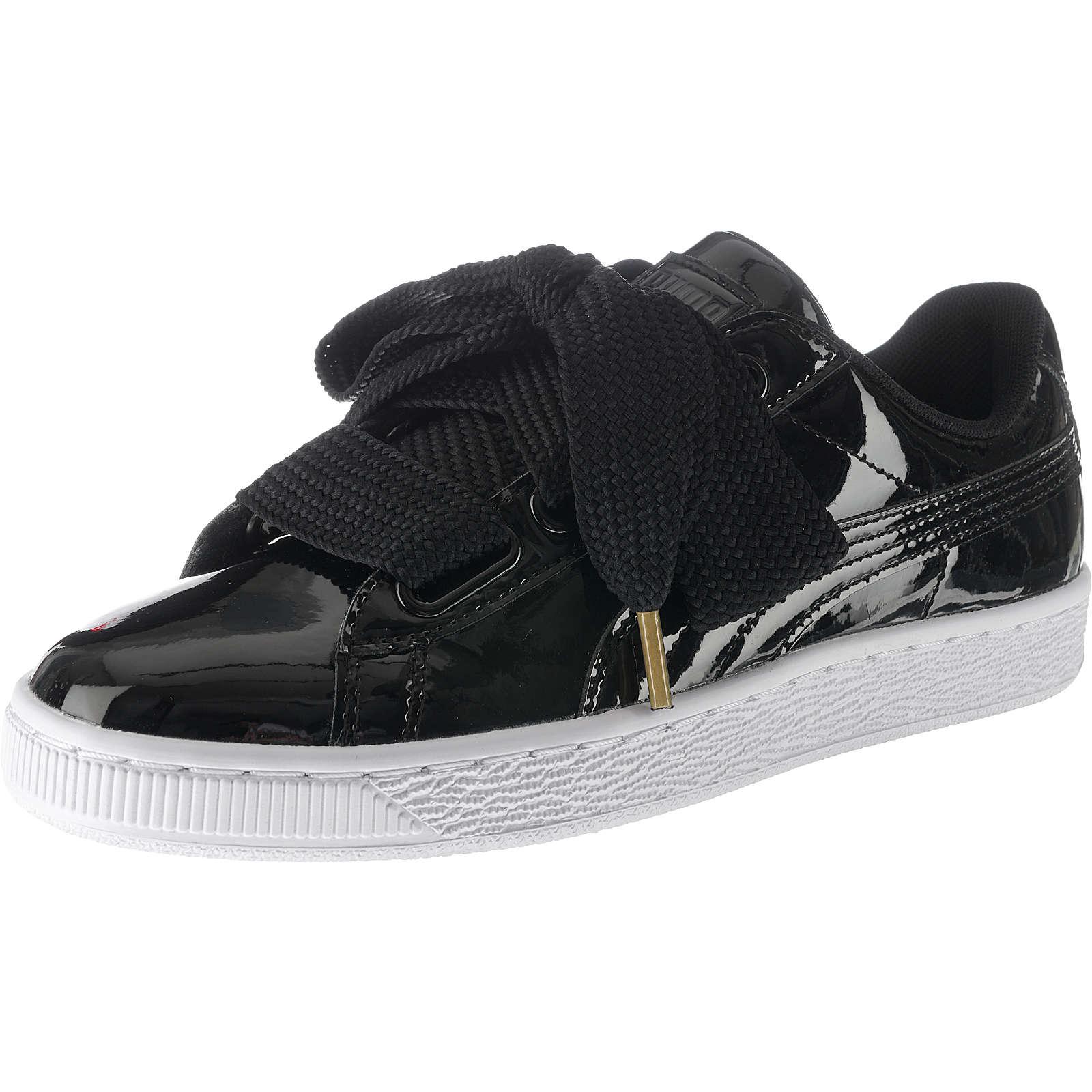 PUMA Basket Heart Patent Sneakers schwarz Damen Gr. 37