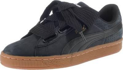 PUMA, Basket Heart Perf Gum Sneakers, schwarz | mirapodo