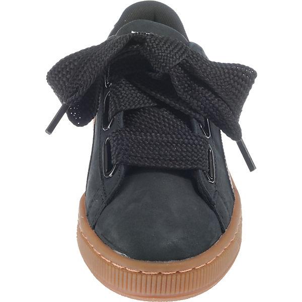 promo code e2914 6bea2 PUMA, Basket Heart Perf Gum Sneakers, schwarz | mirapodo