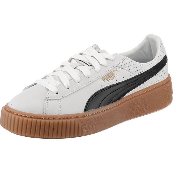 Platform Weiß Basket Perf Gum Sneakers kombi Puma WExBeoQrdC