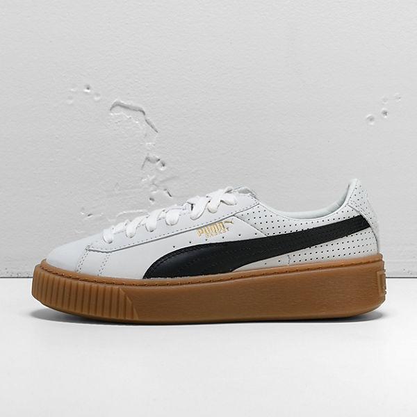 Puma Sneakers Perf Gum Weiß Basket Platform kombi 0rgq10