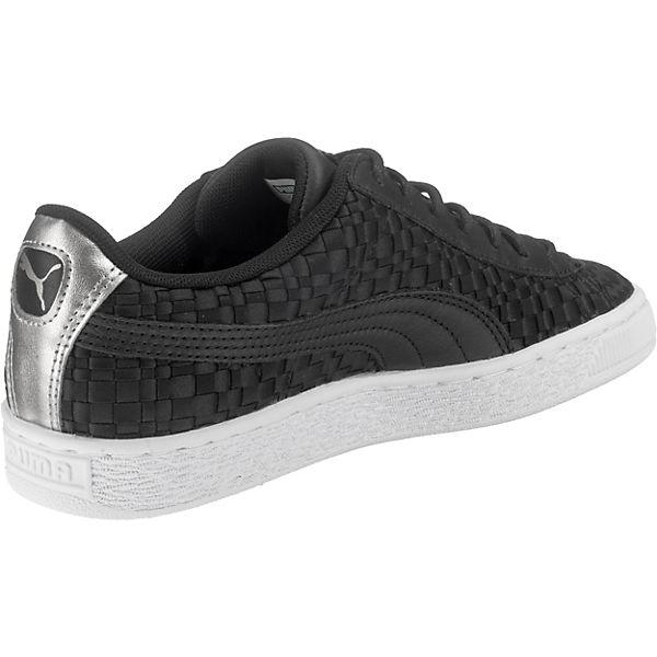 Puma Sneakers Satin Basket Schwarz Ep RCgqxpwHR1