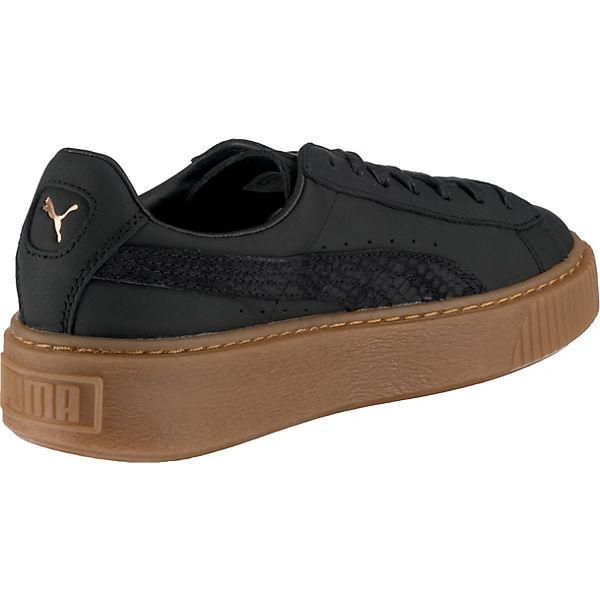 Basket Platform Gum Schwarz Sneakers Euphoria Puma 1SB4wdzqq