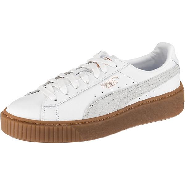 new concept 7d3de 86754 PUMA, Basket Platform Euphoria Gum Sneakers, weiß | mirapodo