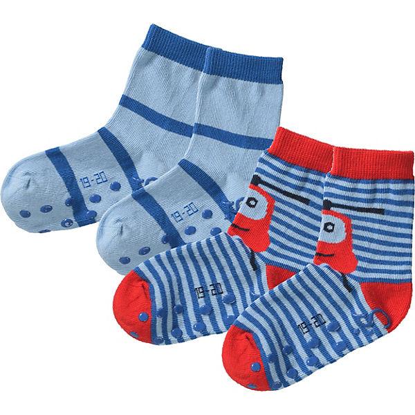 elegantes Aussehen im Angebot neueste auswahl Sterntaler, Baby Haussocken Doppelpack für Jungen, blau