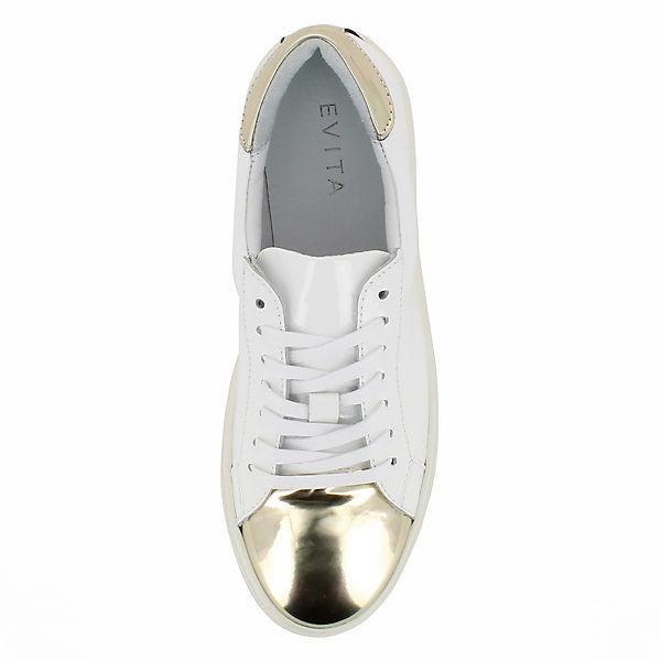 Evita Shoes Sneakers Low MARISA weiß/gold
