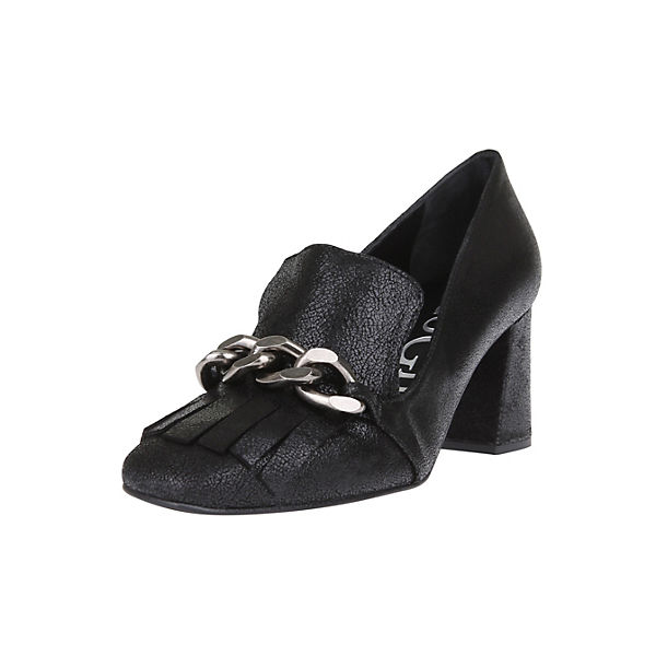 Paco Gil Loafer-Pumps schwarz