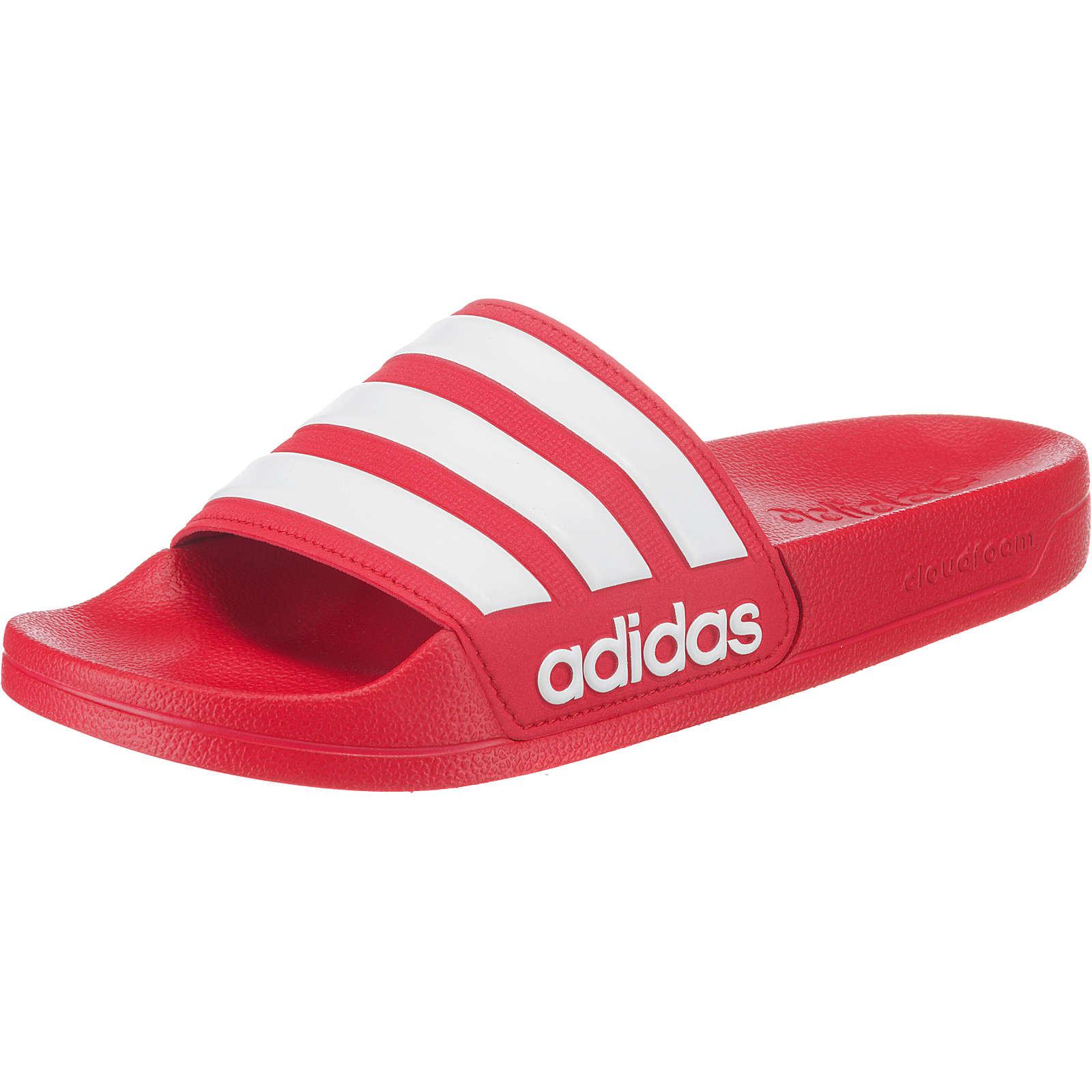 adidas Performance CF Adilette Pantoletten rot Damen Gr. 44,5