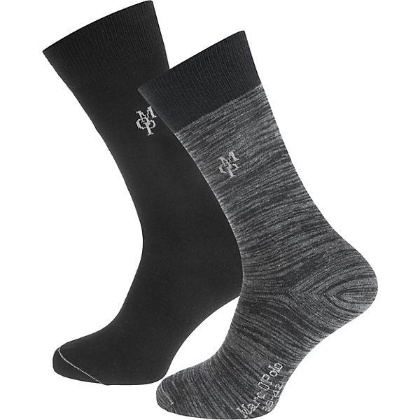 Marc O'Polo Jonte 2 Paar Socken schwarz