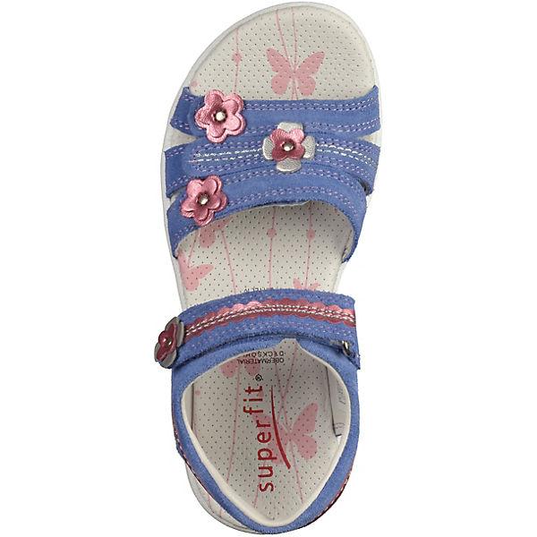 superfit sandalen mit applikationen f r m dchen blau. Black Bedroom Furniture Sets. Home Design Ideas