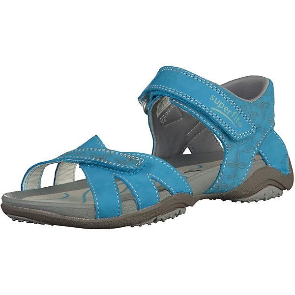 superfit sandalen mit klettverschluss f r m dchen blau mirapodo. Black Bedroom Furniture Sets. Home Design Ideas
