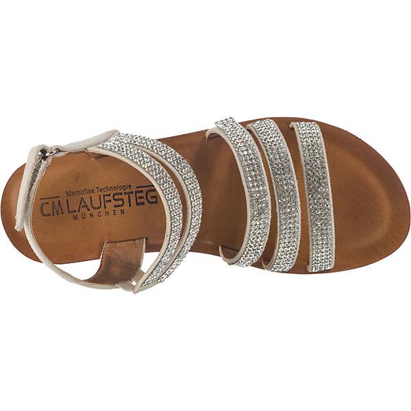 Laufsteg München, Riemchensandalen, silber Schuhe  Gute Qualität beliebte Schuhe silber b9012a