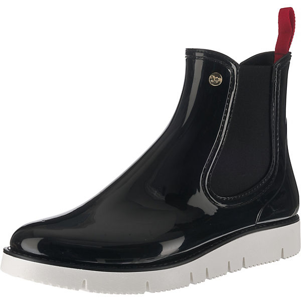 Boots GOSCH schwarz Chelsea Sylt kombi q4xSEw1O4