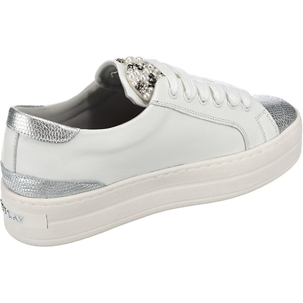 REPLAY Low Rocket silber weiß Sneakers OxrqZa0pwO