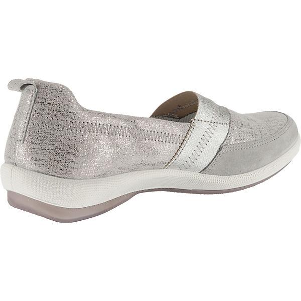 Legero,  SALINA Slip-On-Sneaker, silber-kombi   Legero, 2fdad6