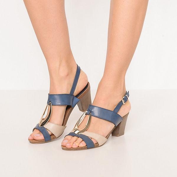 CAPRICE, Klassische Sandaletten, blau-kombi