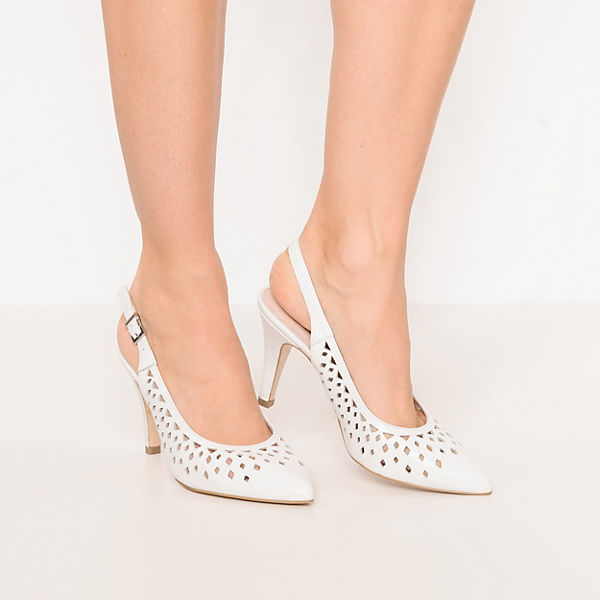 CAPRICE, Sling-Pumps, weiß  Gute Qualität beliebte Schuhe