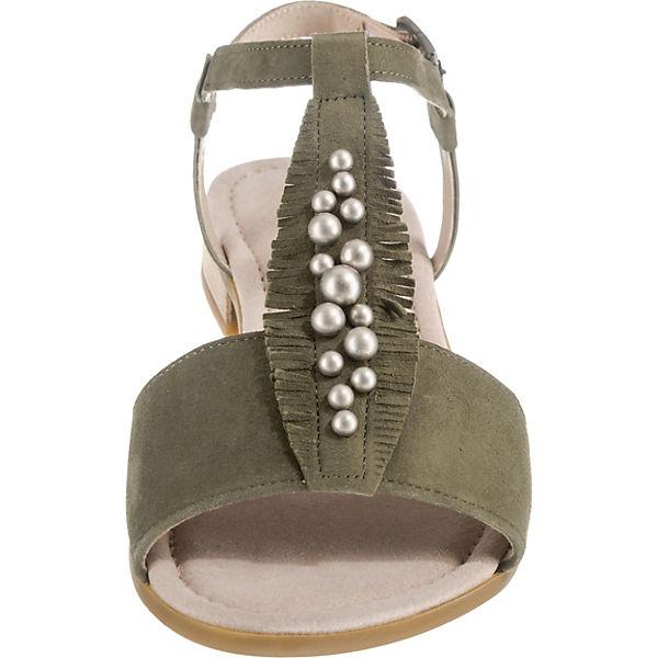 Gabor, T-Steg-Sandaletten, grün Qualität  Gute Qualität grün beliebte Schuhe b9e143
