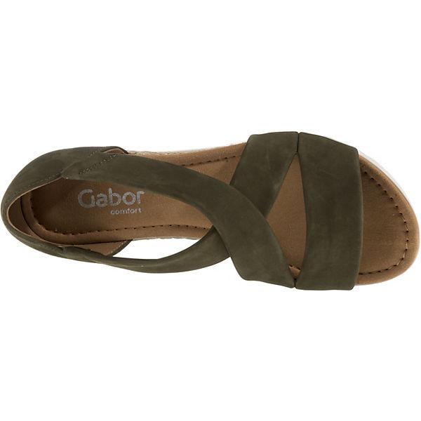 Klassische Gabor Gabor Klassische Grün Sandaletten Klassische Klassische Grün Gabor Grün Sandaletten Grün Sandaletten Sandaletten Gabor RUqWZT7A7