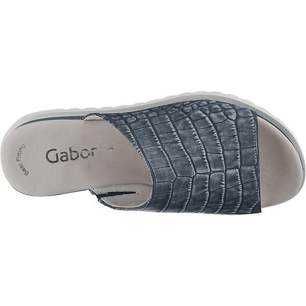 Plateau pantoletten Plateau Plateau Blau pantoletten pantoletten Gabor Blau Gabor Blau Gabor wPxXnqS8a
