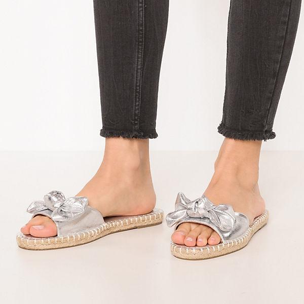 BUFFALO, Pantoletten, Gute silber Gute Pantoletten, Qualität beliebte Schuhe 8db7dc