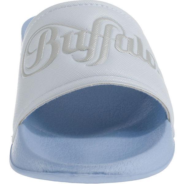 hellblau hellblau Pantoletten BUFFALO Pantoletten BUFFALO 8Xwa46x