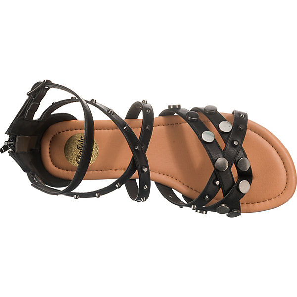 Buffalo Schwarz Klassische Klassische Sandalen Buffalo gvI7yYb6f