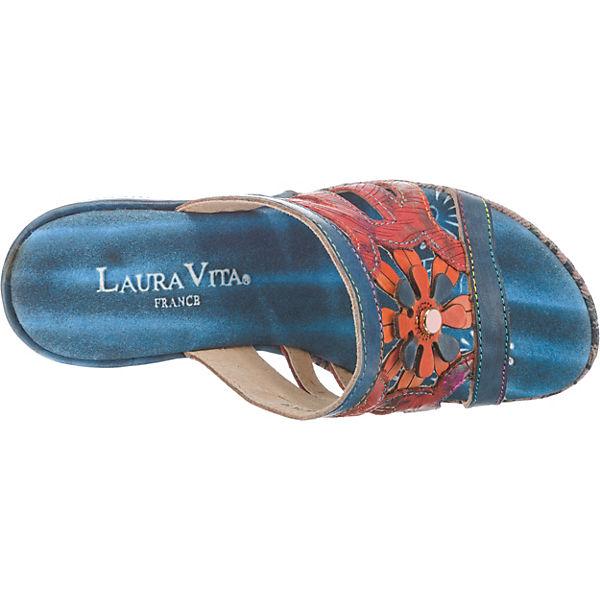 Pantoletten 14 blau Beaute Laura kombi Vita 7qAE0ttw