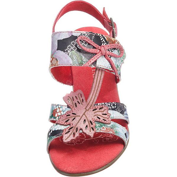 Laura Vita Bettino 018 Riemchensandaletten rot-kombi  Gute Qualität Qualität Qualität beliebte Schuhe 89f558