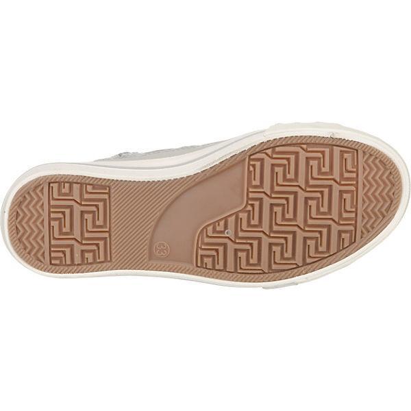 MUSTANG Sneakers High für Mädchen hellgrau