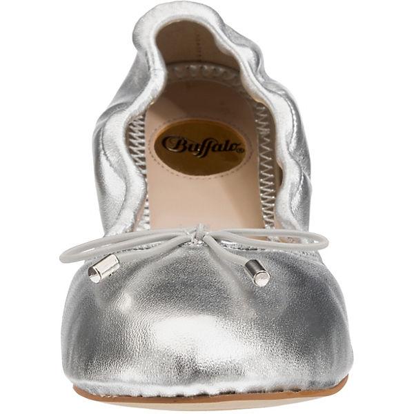BUFFALO Ballerinas Faltbare Ballerinas BUFFALO Faltbare silber x1qSqw5UY