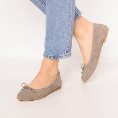 BUFFALO, Faltbare Ballerinas, grau Gute Qualität Schuhe