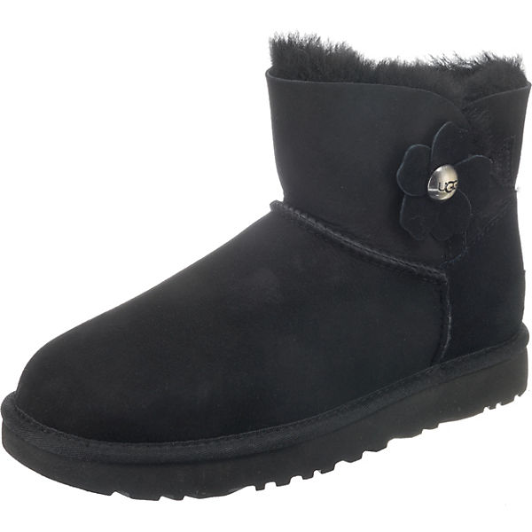 UGG W MINI BAILEY BUTTON POPPY Winterstiefeletten schwarz