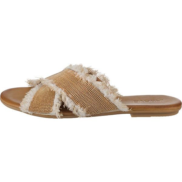 INUOVO, Pantoletten, beliebte beige  Gute Qualität beliebte Pantoletten, Schuhe 09e0a5