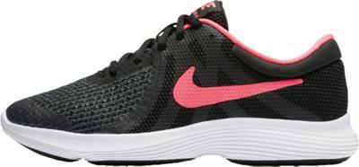 NIKE, Sneakers Low REVOLUTION 4 (GS) für Mädchen, schwarz/rosa