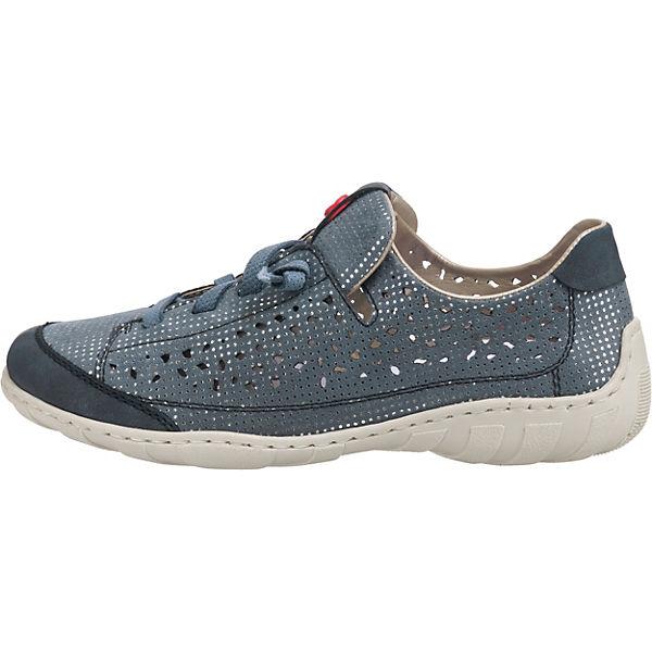 Rieker, Prestonbuk/Puntito Turnschuhes Niedrig, beliebte blau-kombi Gute Qualität beliebte Niedrig, Schuhe a8ba24