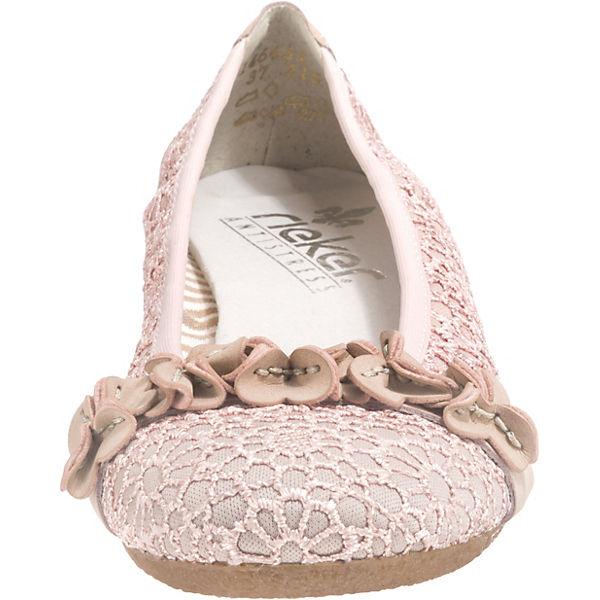 rieker Preston Ballerinas Klassische Lismoretex rosa ppHrSZ