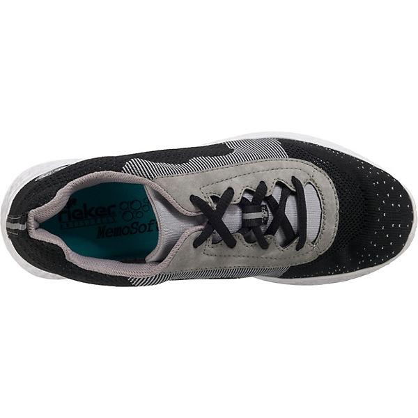 rieker, Knitup8/Namibia Gute Sneakers Low, schwarz-kombi  Gute Knitup8/Namibia Qualität beliebte Schuhe 430995