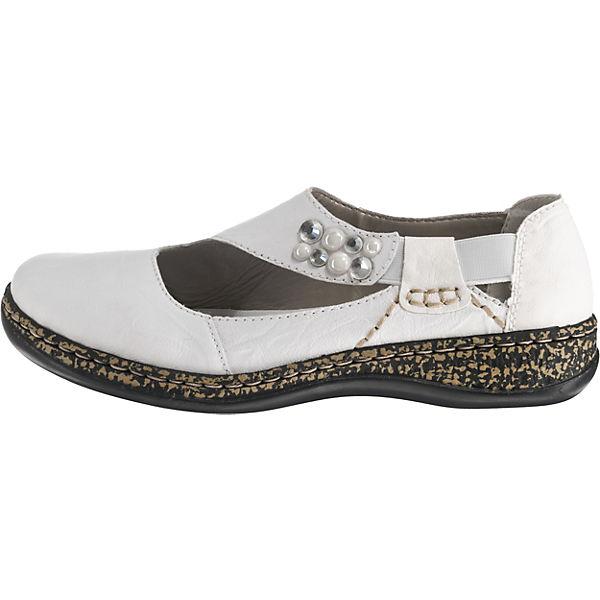 Rieker, Strong/Prestonbuk Komfort-Ballerinas, weiß  Gute beliebte Qualität beliebte Gute Schuhe 847005