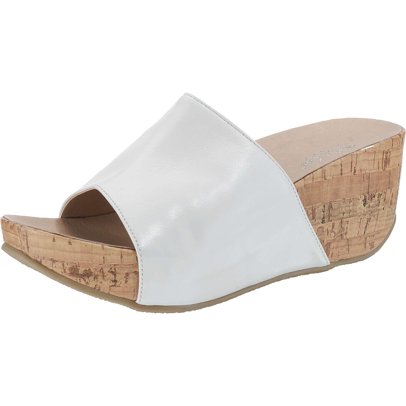 Andrea Conti Plateau-Pantoletten weiß Damen Gr. 42 jetztbilligerkaufen