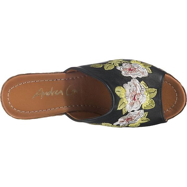 Andrea Conti, Plateau-Pantoletten, schwarz  Schuhe Gute Qualität beliebte Schuhe  4a866c